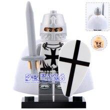 DR.TONG 20pcs/lot Medieval Knights XH645 Crusader Rome Commander Super Heroes Building Blocks Bricks Toys Children Gifts X0164