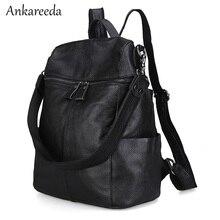 Женщины высокого качества теплые рюкзак натуральная кожа женские Bagpack 2017 Новый дизайн Портативный школьная сумка на плечо девушки дорожные сумки