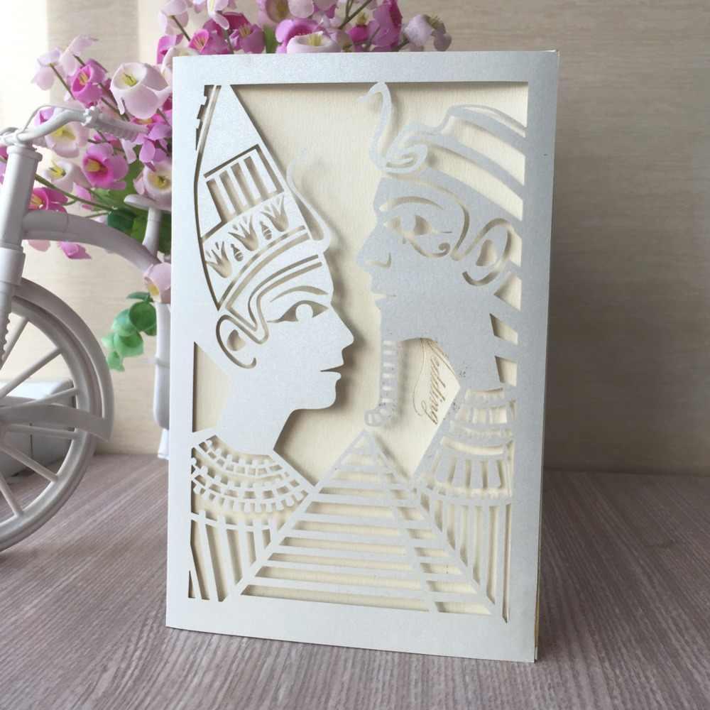 100 pièces exquis Laser découpé mariage Initations cartes carte de voeux fête Souvenirs anniversaire carte Banquet fournitures