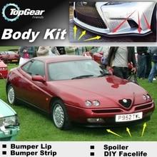 Бампер для губ отражатель губы для Alfa Romeo GTV/Spider AR передний спойлер юбка для TOPGEAR друзья Тюнинг автомобилей/обвес/полоса