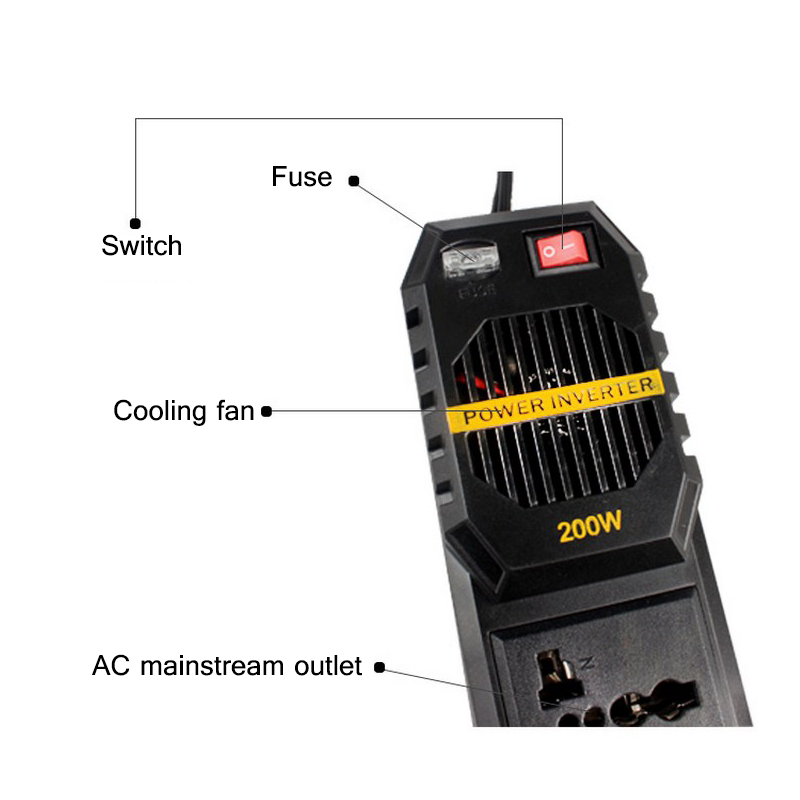 Image 5 - 300W Car Inverter 12V To 220V Inverter Converter 300W Peak Power Inverter 12V 220V with 2 USB Chargers-in Car Inverters from Automobiles & Motorcycles