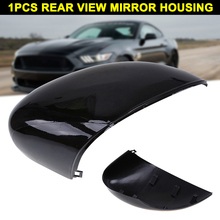 1Pc L/R Matte Black Wing Mirror Cover Cap Painted for Ford Fiesta MK7 2008-2017 NJ88