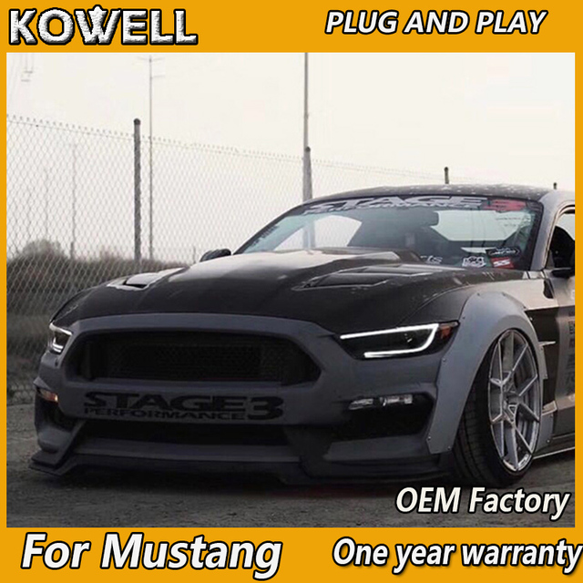 Kowell Car Styling For Ford Mustang Headlights 2015 2018 Full Led