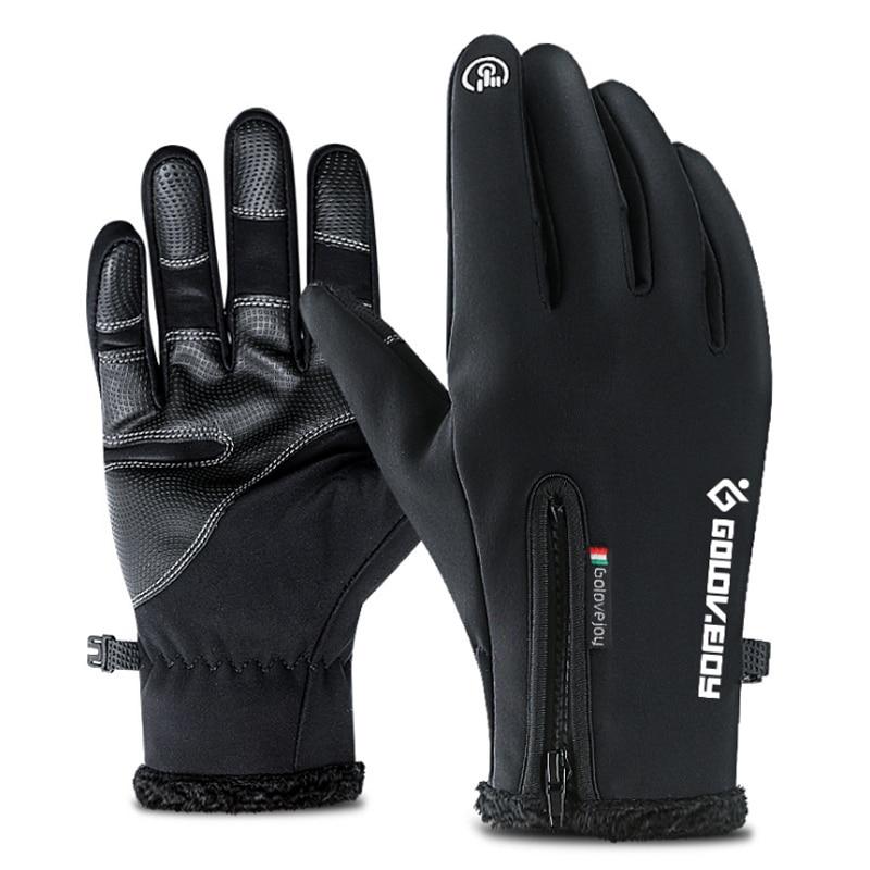 Ski Gloves Men Fleece Snowboard Gloves Snowmobile Motorcycle Riding Winter Gloves Windproof Waterproof Sport Gloves