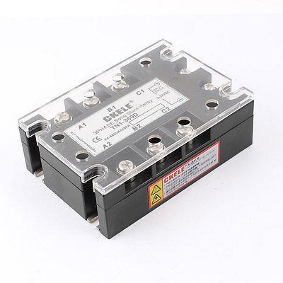 AC24-480V 60A DC3-32V 3Phase TN1-360D Solid State Relay w Indicator Light normally open single phase solid state relay ssr mgr 1 d48120 120a control dc ac 24 480v