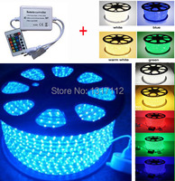 High Quality 60LEDs/M Waterproof IP67 SMD 5050 LED Strip 220V with 24Keys IR Controller