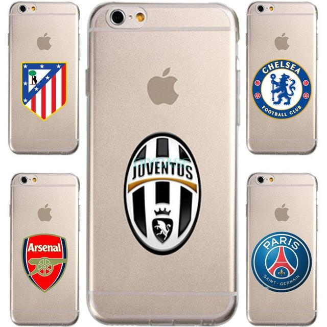 European football club Juventus  Tpu Case for iPhone 7 7plus 4 4S 5 5S SE 6 6S Plus slim Transparent Silicone soft Phone cover