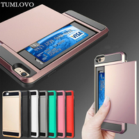 Hybrid Tough Card Storage Armor Case For Samsung Galaxy S8 Plus S7 S6 Edge S5 S4