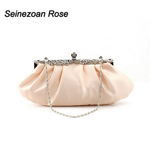 2016 Fashion Women Pleated Bags Evening Wedding Clutch Bags Purses Wallets Ladies Shoulder Messenger Handbags sac a main bolsa