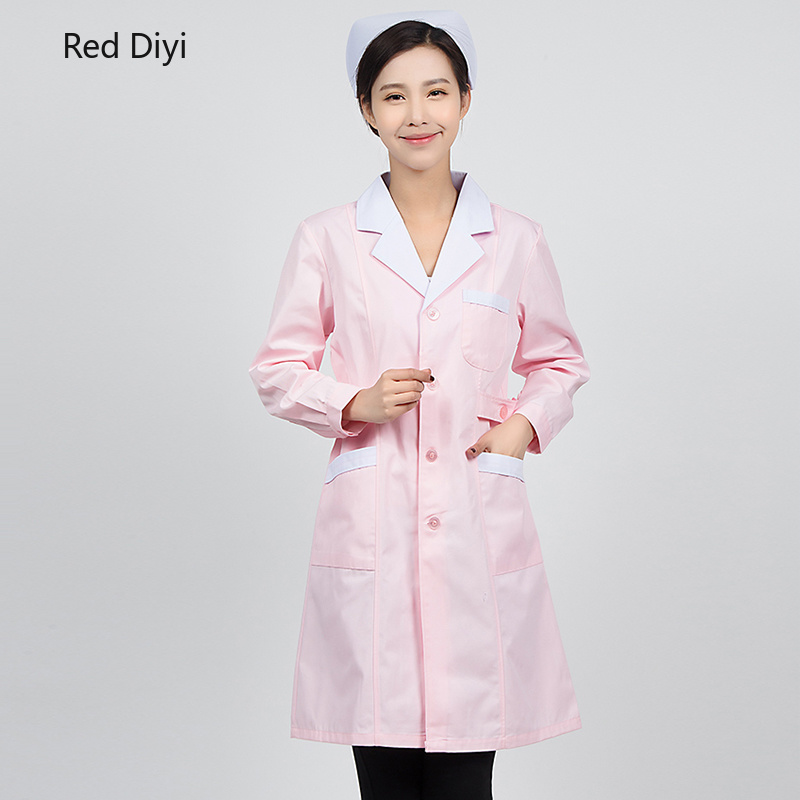 Ladies Medical Robe Medical Lab Coat Hospital Doctor Slim