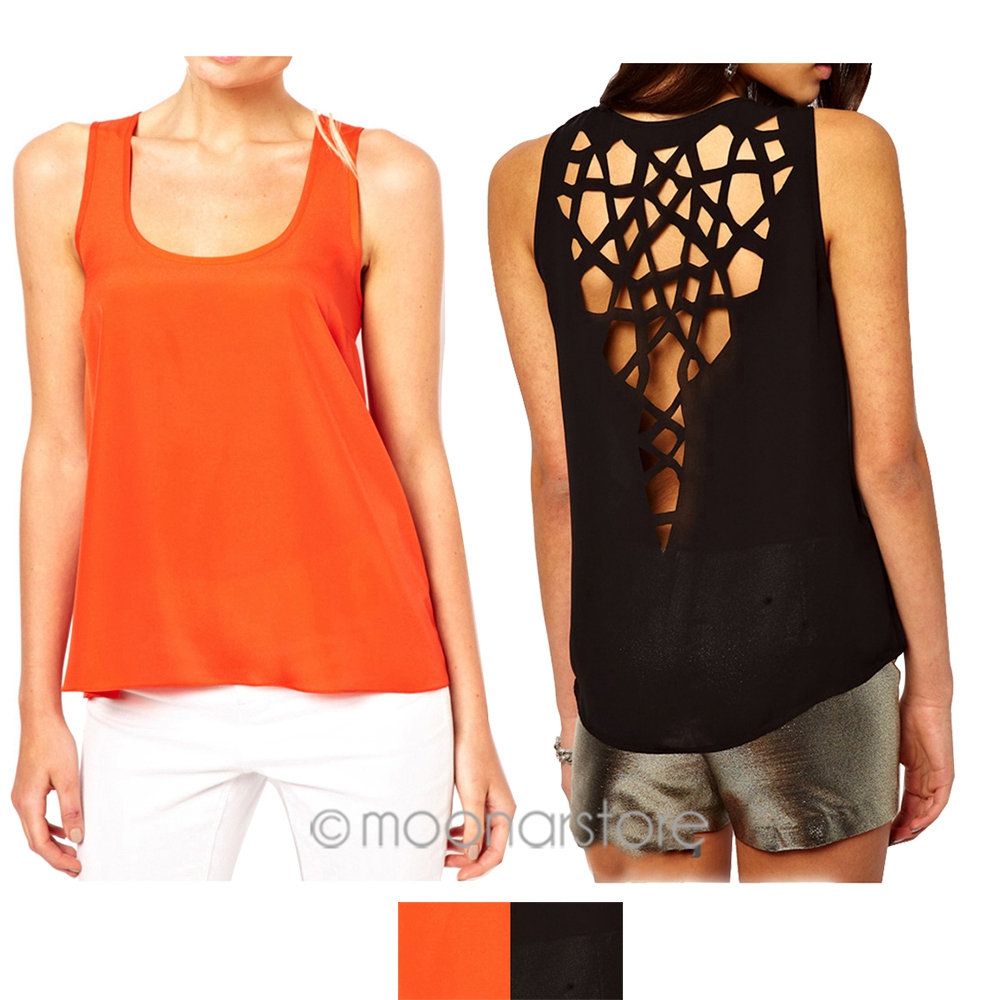 2018 New Summer Fashion Women Casual   Tank     Tops   Backless Hollow Out Back   Tanks     Top   Women Shirts