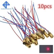 10 шт. 5 в 650 нм 5 мВт Регулируемый точечный модуль лазерного диода красный прицел Медная головка мини лазерная указка