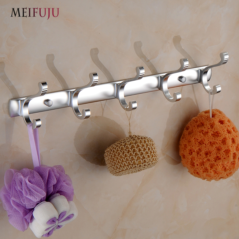 MEIFUJU Aluminum Clothes Hanger Towel Coat Robe Hook Decorative Bathroom  Hooks Wall Mounted Free Shipping Bathroom Hardware In Robe Hooks From Home  ...