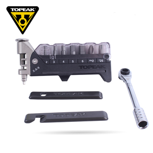 Image 3 - חדש Topeak TT2520 Ratchet לייט DX Hex & Torx ברגים 15 in 1 כלים ערכות רב אופניים תיקון & תחזוקה כלים