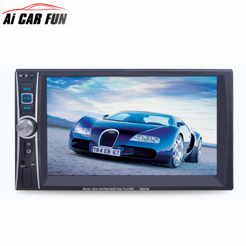 7653TM 7'' HD 2 Din Car Radio MP5 Player Touch Screen Bluetooth Phone Link Smart Phone Stereo Radio Player MP3/Audio/Video/USB 7 hd bluetooth touch screen car gps stereo radio 2 din fm mp5 mp3 usb aux z825