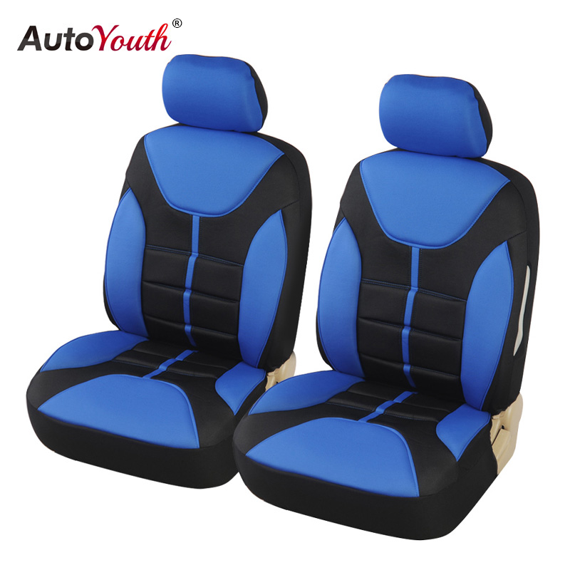 AUTOYOUTH luxury Car Seat Covers Universal Fit Most Front Cat Seat Protector Foam Back Support Airbag