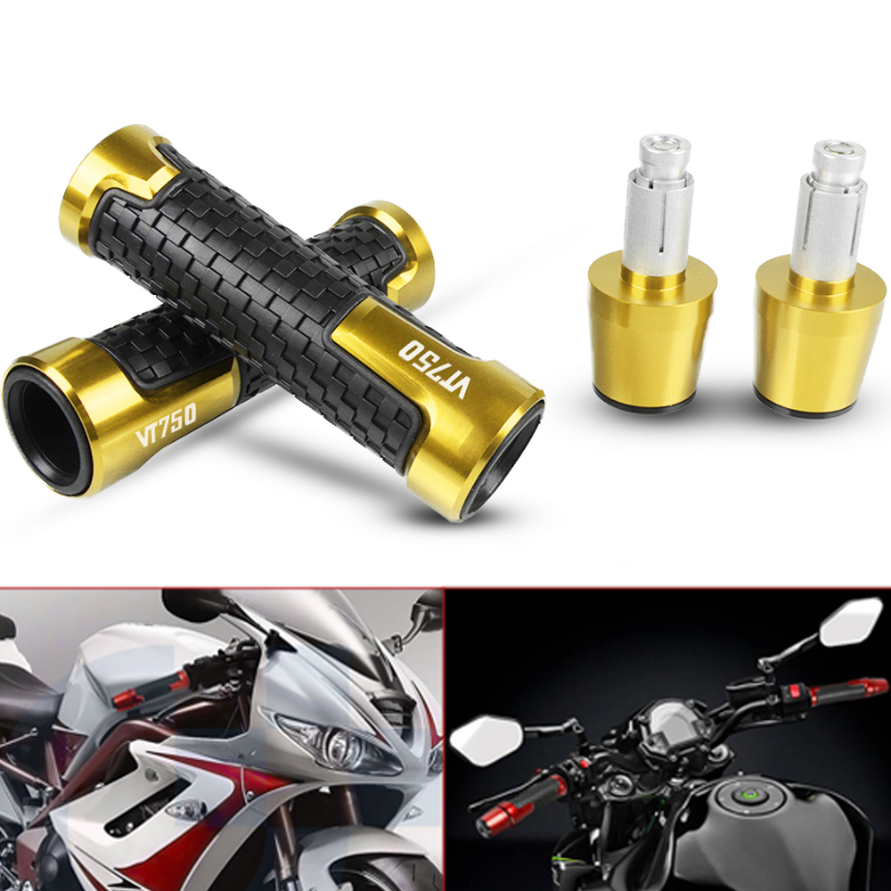 Motorbike Motorcycle CNC Aluminum Handle Grip Handlebar Hand Grip And Bar Ends For Honda VT750 VT 750 2001-2003 2002 Accessories