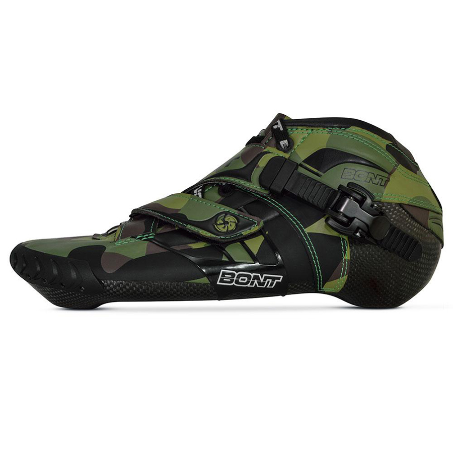 100% Original Bont Z 2PT 195mm Speed Inline Skate Heatmoldable Carbon Fiber Boot Competetion Racing Skating Boot Patines Shoes