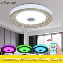 Smart Bluetooth 40 Steuer Led Lampe Decke Wohnzimmer Mit Bunten Dimme GEFHRT Lampara Techo Metall Acryl Lampenschirm Fr P