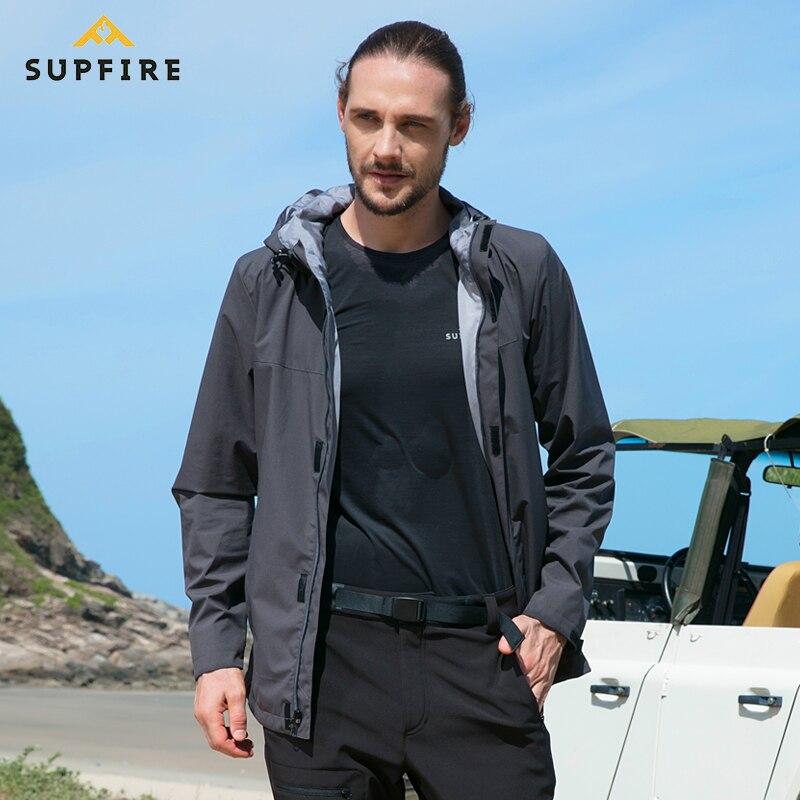 Supfire veste de randonnée hommes chasse cyclisme coupe-vent mâle pêche vêtements tactiques séchage rapide imperméable sport manteau C031