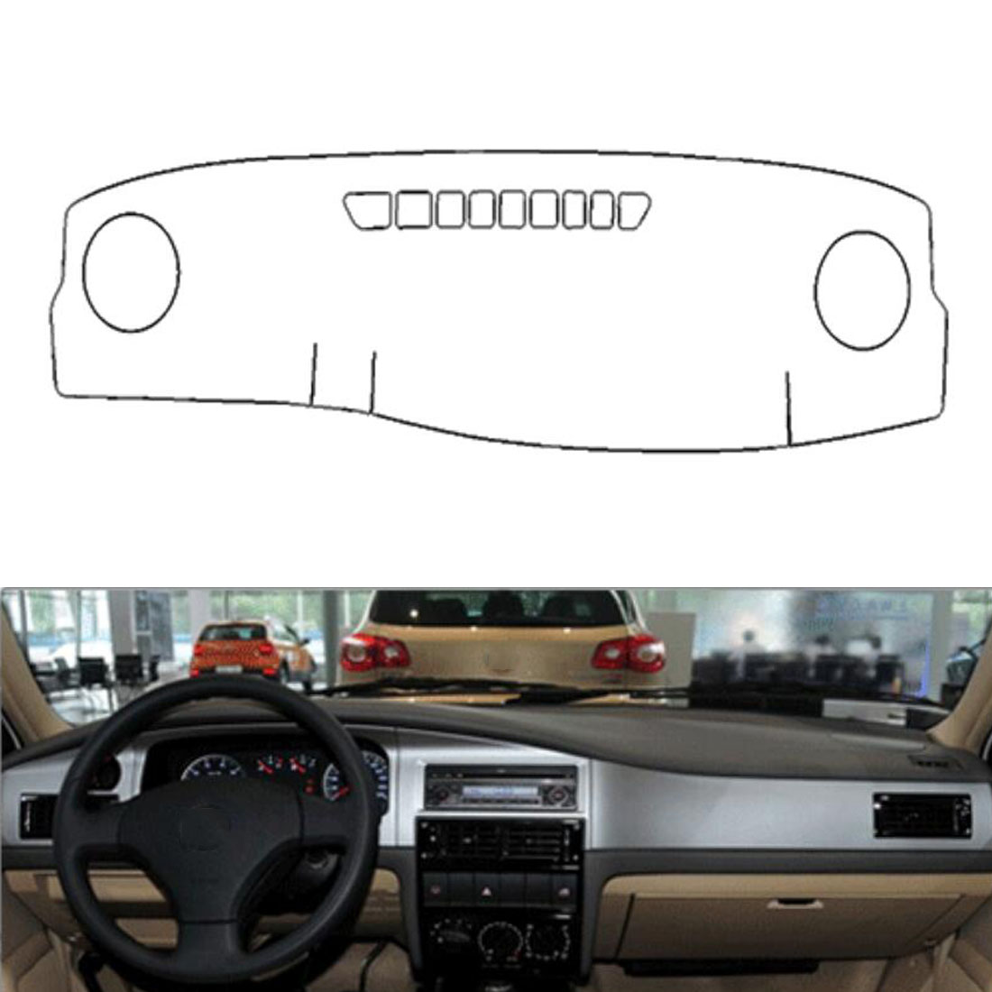 Dongzhen Fit For VW Santana 3000 2004-2010 Auto Car Dashboard Cover Avoid Light Pad Instrument Platform Dash Board Cover Mat