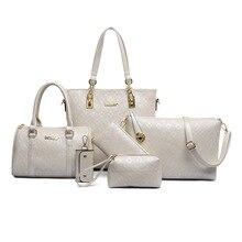 Neue Mode Kleine und Große Diamantgitter 6 sätze Frauen Taschen Mode Frauen Umhängetasche + Tote + Dame Handtasche + Wallet + Karte Tasche F078