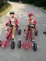Niños go kart neumático de la bicicleta de fitness bicicleta cochecito de cuatro ruedas coche equilibrio