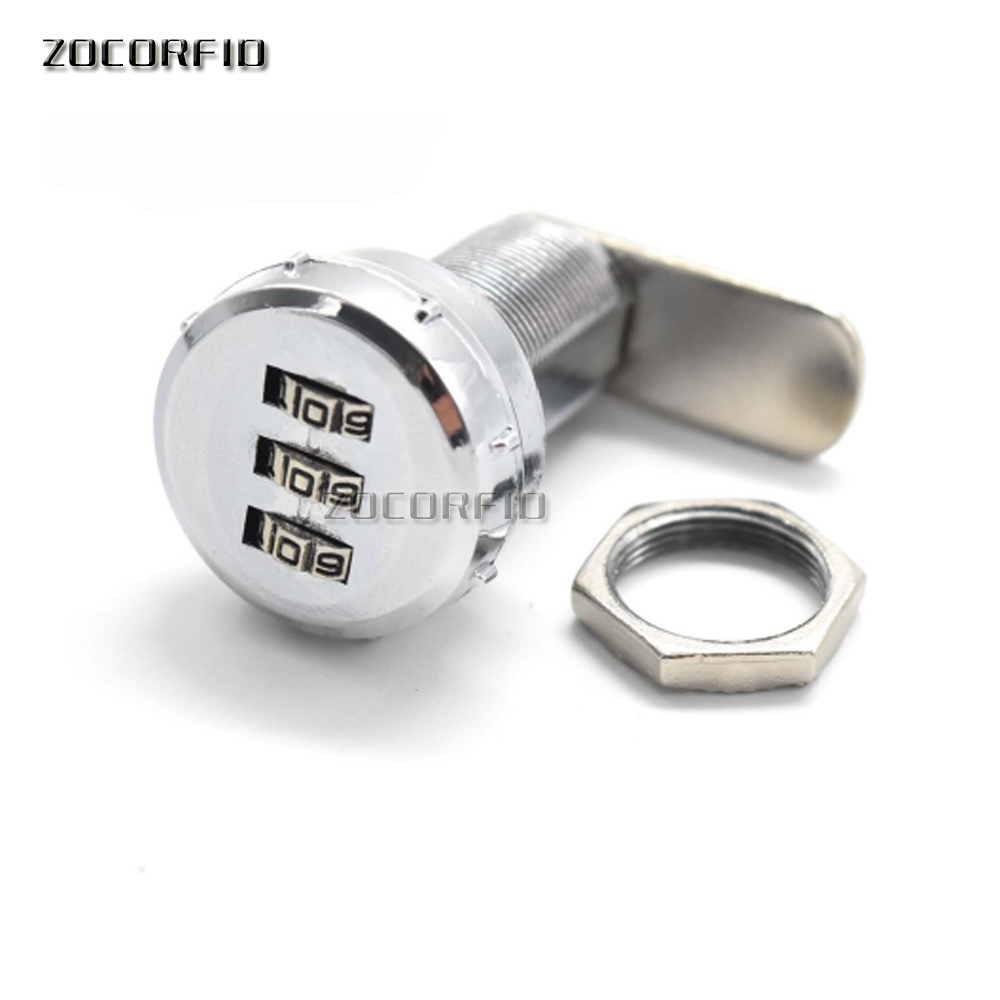 Mechanical Hardware Combination Cam Lock 3 Digit 30mm,24mm Length Security Lock for Drawer Cabinet Custom Code Password LockMechanical Hardware Combination Cam Lock 3 Digit 30mm,24mm Length Security Lock for Drawer Cabinet Custom Code Password Lock