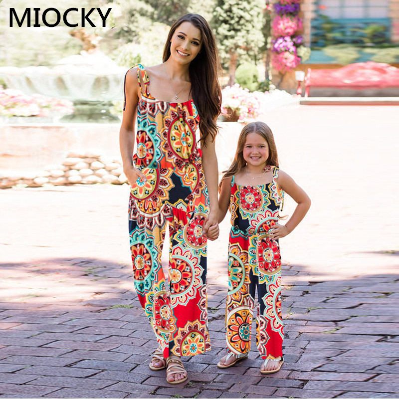 NASHAKAITE-Family-matching-clothes-Bohemian-Print-Shoulder-Bandage-Jumpsuit-Mommy-and-me-Jumpsuits-Mother-and-Daughter (5)