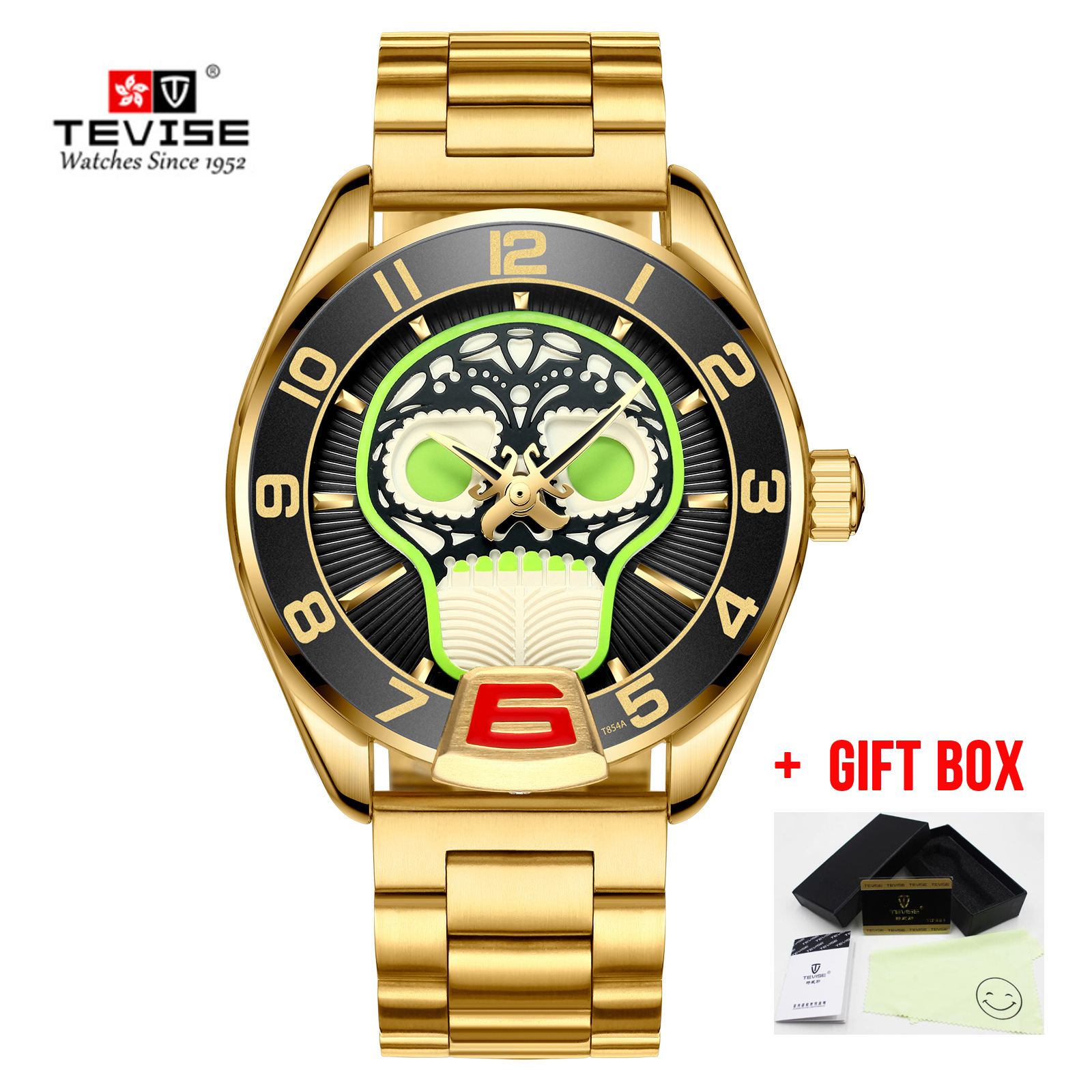 2019 New Relogio Tevise masculino Men Watch Self Winding Automatic Mechanical Watches Business Casual Skull Wristwatches Clock2019 New Relogio Tevise masculino Men Watch Self Winding Automatic Mechanical Watches Business Casual Skull Wristwatches Clock