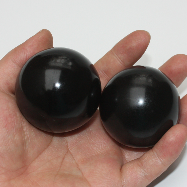 2 pcs 5cm round natural black stone palm massage ball for health care цена 2017