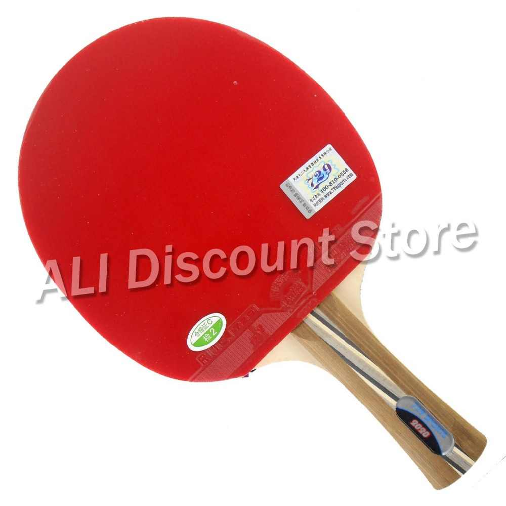 RITC 729 Friendship 2020# Pips-In Table Tennis Racket with Case for PingPong Shakehand long handle FL
