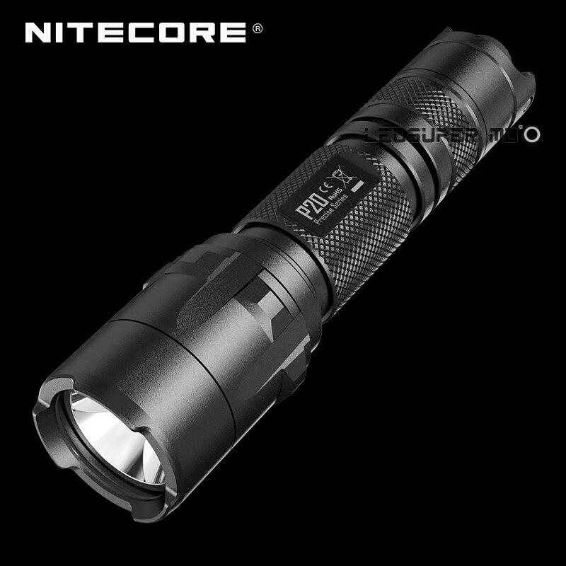 D'origine Nitecore P20 Précis Série CREE XM-L2 T6 LED 800 Lumens Torche 18650 Tactique Lampe De Poche De Chasse avec Stroboscope Prêt
