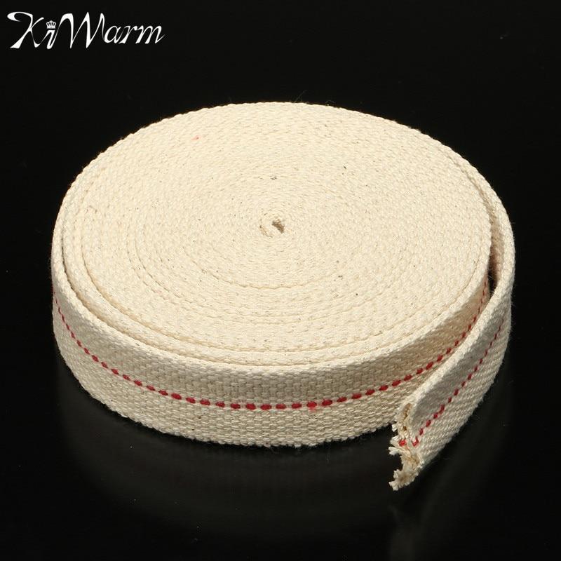KiWarm Hot Selling 4.5M Width 25mm Flat Cotton Wick Oil