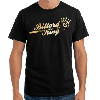 Brand Clothing Men Printed Round Men T-shirt Cheap Price Billard King Sporter Pool 8-Ball Crown Fun design your own t shirt