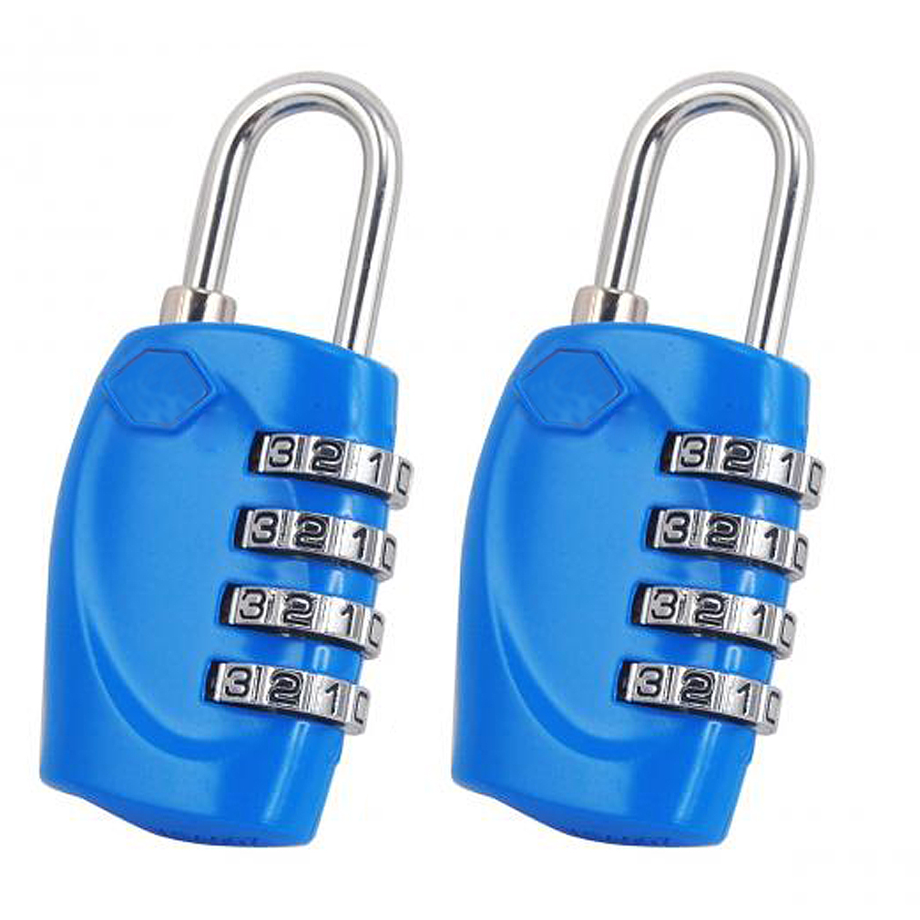 10pcs( 2016 Hot Style2 X Blue 4 Dial TSA Combination Padlock Resettable Luggage Travel Lock UK Seller 2016 orange manual and automatic bluetooth smart window lock bicycle lock luggage lock stainless steel padlock hot sale
