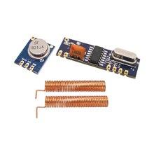 5 ערכת מודול האלחוטי 315 MHz 433 MHz 100 m סטים\חבילה (ASK STX882 + ASK מקלט משדר SRX882) + אביב אנטנות