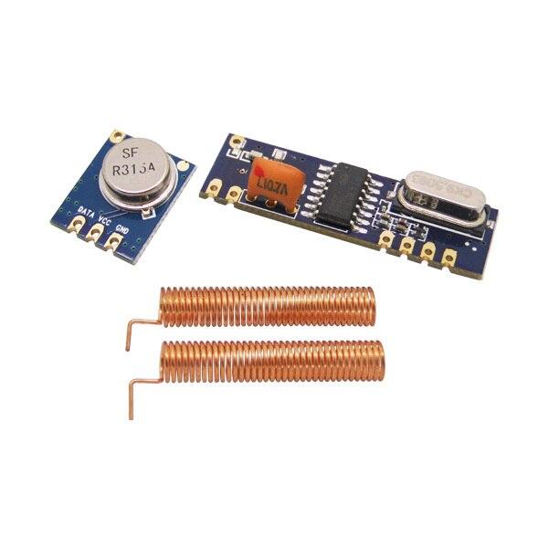 imágenes para 5 set/lote 315 MHz 433 MHz 100 m Módulo Inalámbrico kit (ASK transmitter STX882 + receptor ASK SRX882) + antenas de primavera