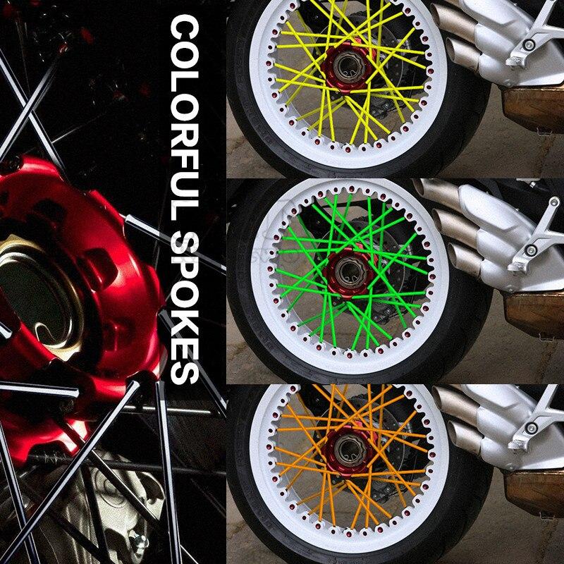Мотокросс Байк эндуро Off Road обода колеса говорил кожухи скины для Kawasaki Z800 ktm 990 приключение 300 450 530 EXC 250 SX-F