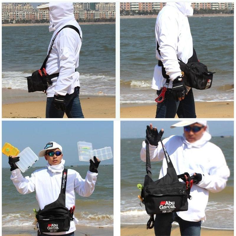 Multifunction Lure Fishing Waist Tackle Bag Waterproof Shoulder Pack Case Reel Lure Line Hook Swivel Connector Tackle Fanny Bag