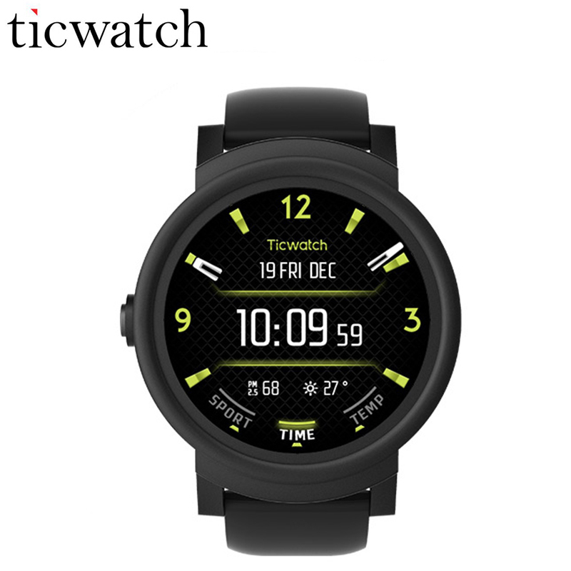 Ticwatch E Expres Montre Smart Watch Android Wear OS 2.0 WIFI GPS Smartwatch MT2601 Dual Core Bluetooth 4.1 Téléphone IP67 Étanche