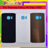 battery samsung galaxy 10Pcs/lot For Samsung Galaxy S6 Edge G925 G925F G925T Housing Battery Door Rear Back Glass Cover Case Chassis Shell Replacement (1)