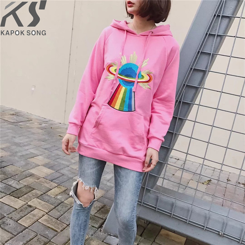 women hoodies long sleeve hoody ladies dress cotton fashional flash pink pullovers cotton hoody regular avarage