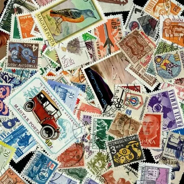 100 PCS No Repeat Postage Stamps Collections From Many Country With PostMark Brand Stamp Postal