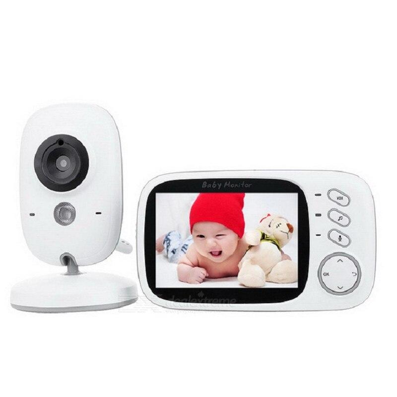 Moniteur vidéo HD avec caméra de vision nocturne intégré lecteur de musique MP3 moniteurs de température de sécurité pour bébé interphone bidirectionnel mobile