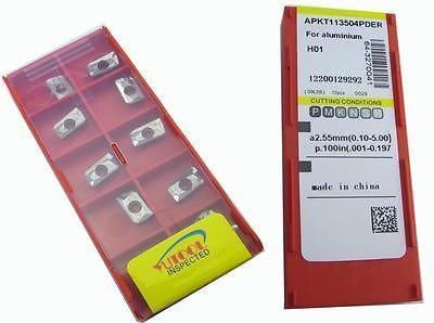 PROMOTION New 50PCS YUSING APKT113504 ALuminium Carbide Insert Milling cutter  цены