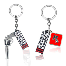 New Game Jewelry Red Dead Redemption 2 Keychain Mental 3D Gun Toy Chaveiro Bag Jewelry Souvenir Llaveros Keyring for Fans
