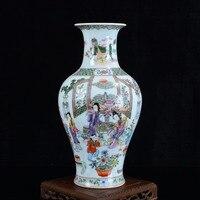 Античная Керамика ваза расписанную древних Красота фарфоровая ваза цветок украшение украшения ремесленных меблировки