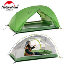 NatureHike Good Quality 20D Silicone Fabric Waterproof Double-Layer 2 Person 4 Season Aluminum Rod Outdoor Camping Tent good quality flytop double layer 2 person 4 season aluminum rod outdoor camping tent topwind 2 plus with snow skirt 3colors