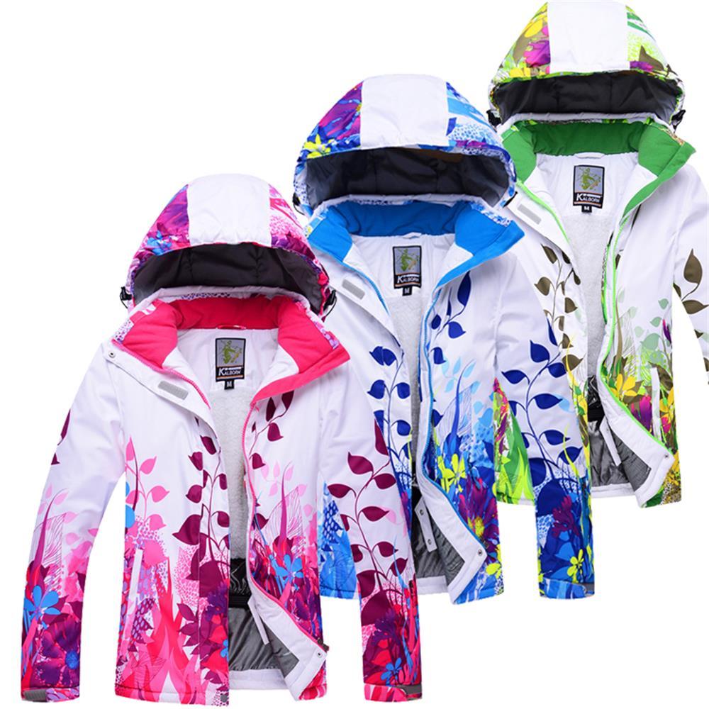Prix pour Professionnel Femmes Coupe-Vent Imperméable Ski Veste Manteaux D'hiver Chaud Sport En Plein Air de Neige Ski Snowboard Vêtements Plus 3XL